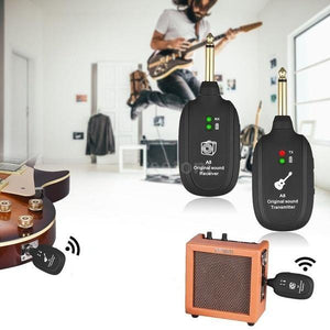 UHF™ wireless guitar transmitter and receiver system guitarmetrics