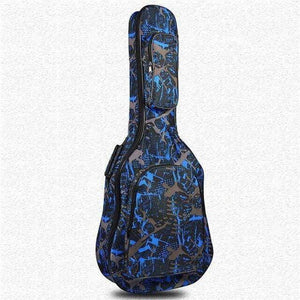 Waterproof soft Guitar case (Artistic Collection) guitarmetrics 2.blue artistic-08