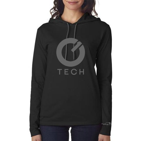 Lightweight Hooded Ladies' Long-Sleeve Tee