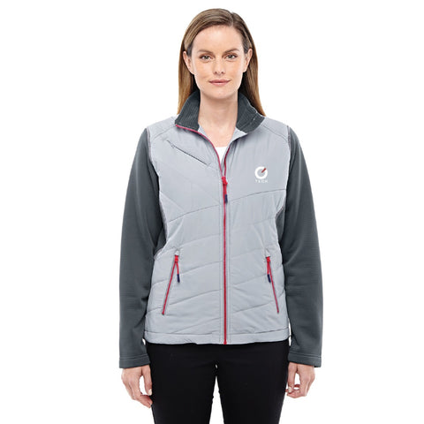 North End Sport Ladies' Quantum Interactive Hybrid Insulated Jacket
