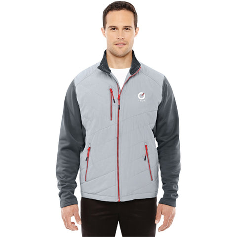 North End Sport Men's Quantum Interactive Hybrid Insulated Jacket