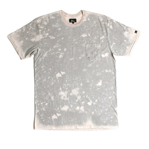 Badge Acid Pocket Tee // Grey