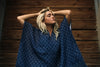Dixie Poncho Blanket // Navy