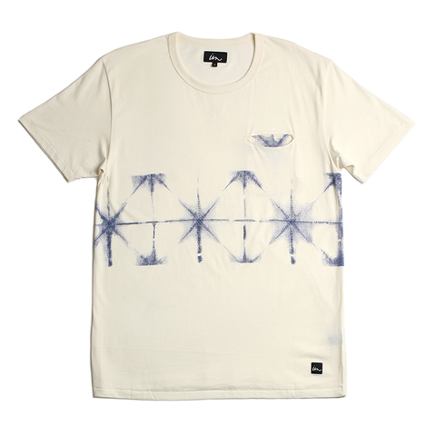 Grid Pocket Tee // Antique White