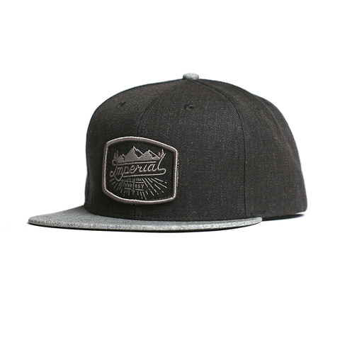 Scripts Snap Back // Charcoal/Grey