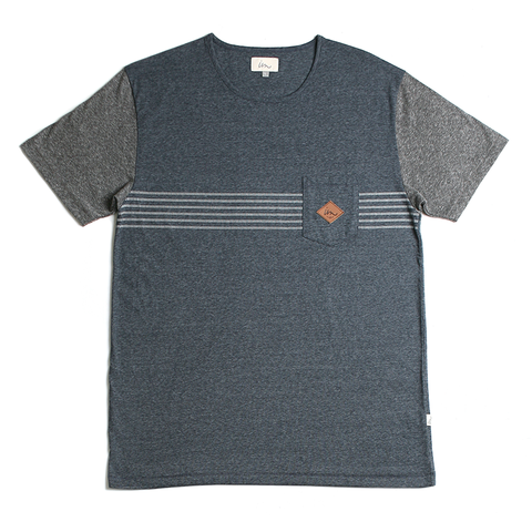 Trimmer Pocket Tee // Indigo Melange