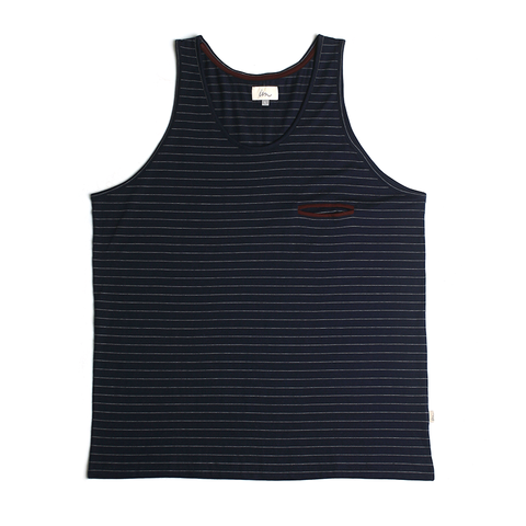 Hemisphere Pocket Tank // Navy