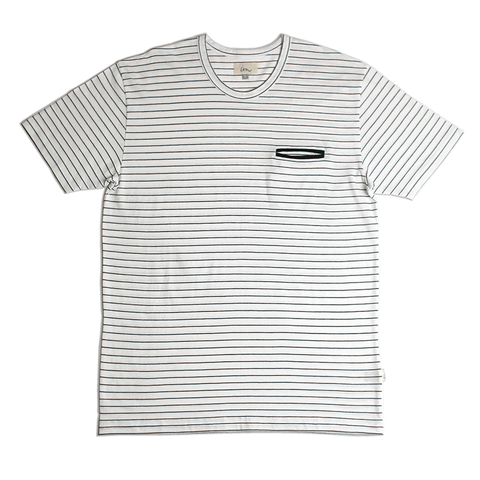 Hemisphere Pocket Tee // White
