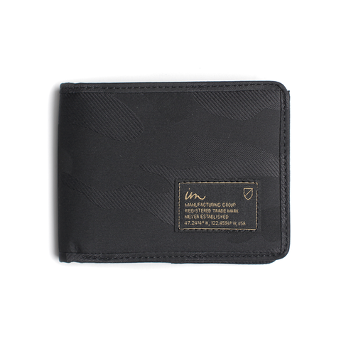 Patent Camo Wallet // Black