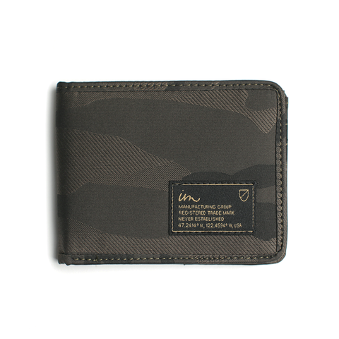 Patent Camo Wallet // Olive