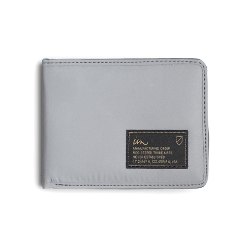 Patent Reflective Wallet // Silver