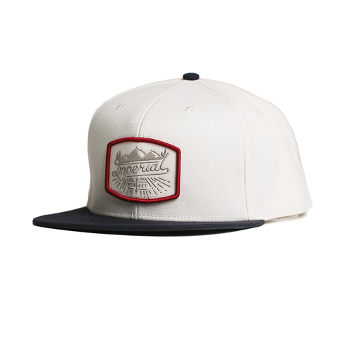 Scripts Snapback // White/Navy