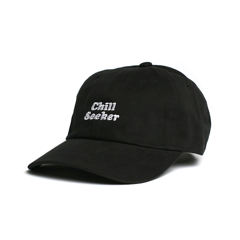 Seeker Type Dad Hat // Black