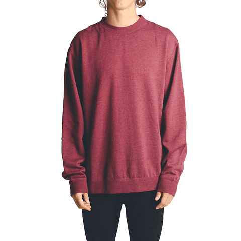 All Day Crew Neck // Oxblood