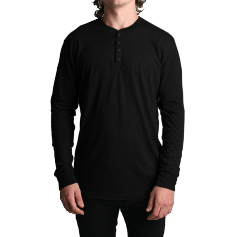All Day LS Henley // Black