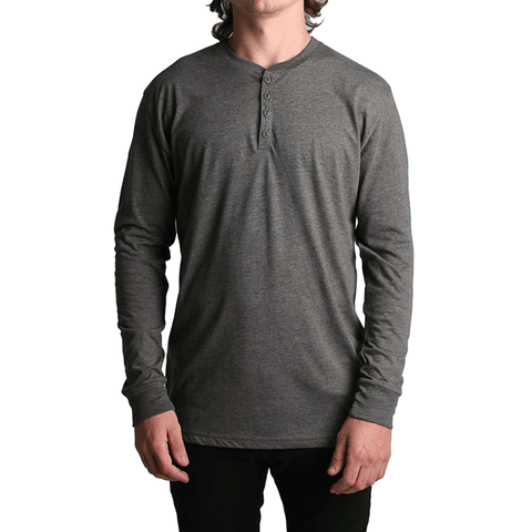All Day LS Henley // Charcoal