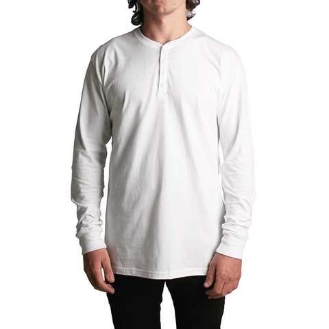 All Day LS Henley // White