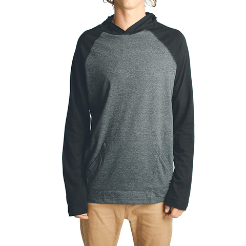 All Day Light Weight Hoodie // Black/Charcoal