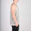 Badge Acid Pocket Tank Top // Grey
