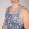 Badge Acid Pocket Tank Top // Indigo