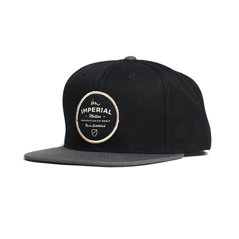 Crate Snap Back // Black/Charcoal