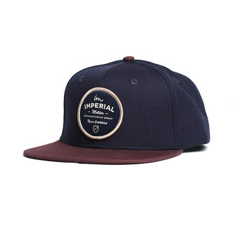 Crate Snap Back // Navy/Maroon