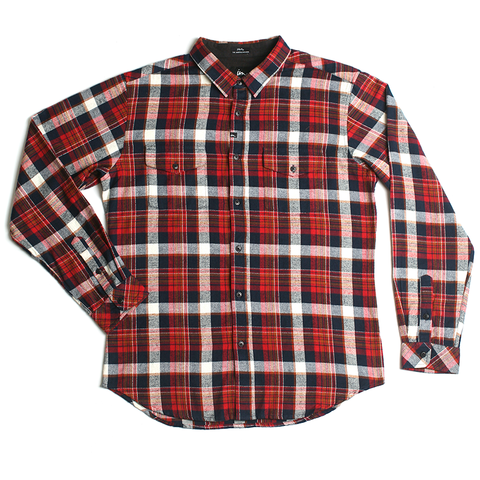 Cushman Flannel // Red/Navy