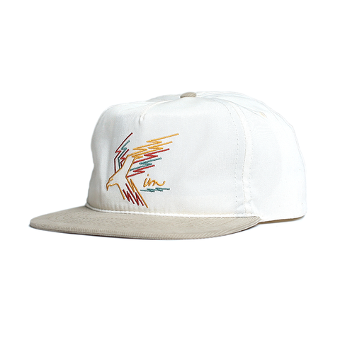 Desert Eagle Snap Back // White/Tan