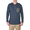 Franco Hooded Henley // Navy