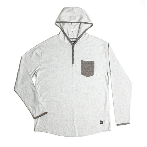 Franco Hooded Henley // Grey