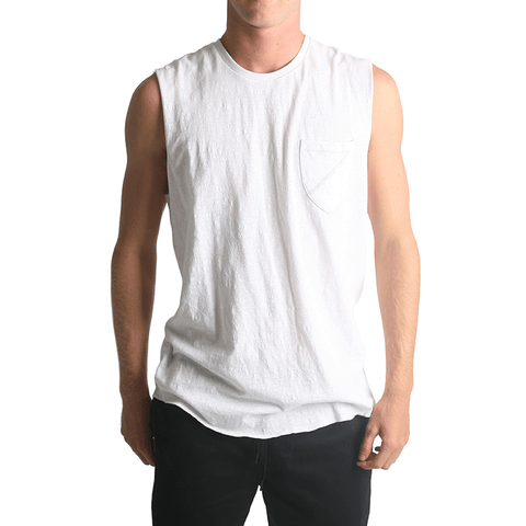 Garth Muscle Tee // White