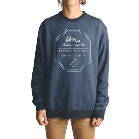 Grand Crew Neck // Navy Heather