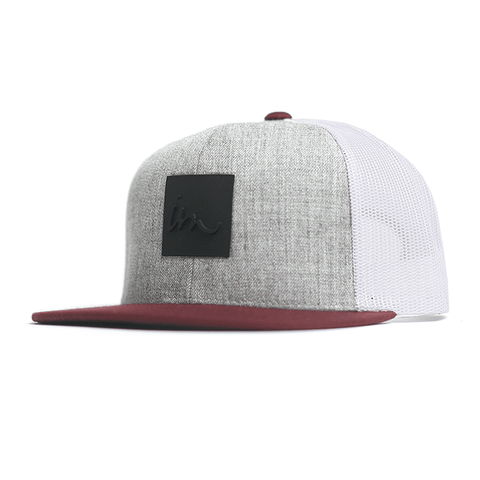 Lark Trucker // Grey Heather / Maroon / White