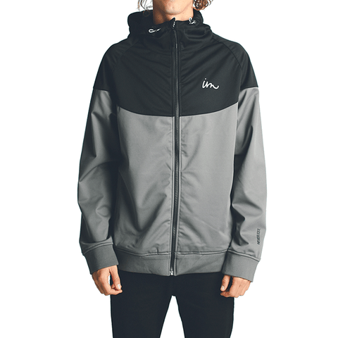 Larter Tech Fleece Jacket // Black/Grey
