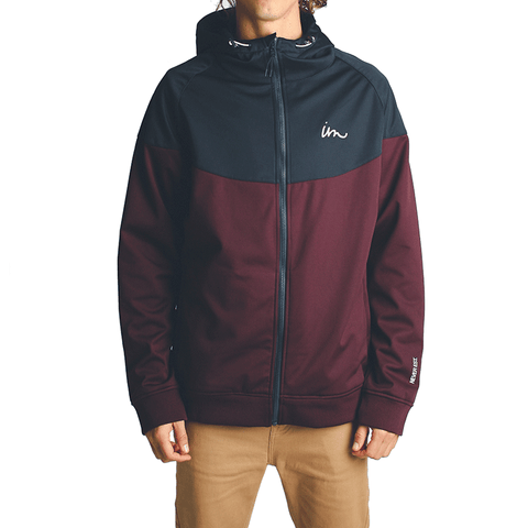 Larter Tech Fleece Jacket // Navy/Eggplant