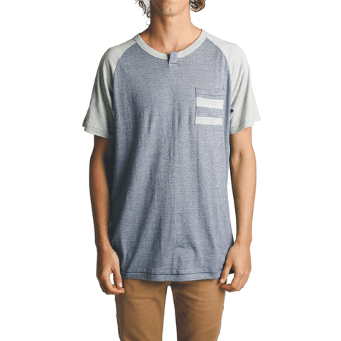 Lexington Pocket Tee // Grey/Navy