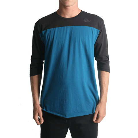 Netty Baseball Tee // Black/Teal
