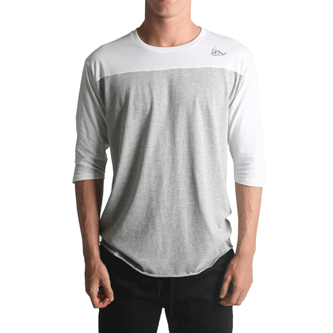 Netty Baseball Tee // White/Grey Heather