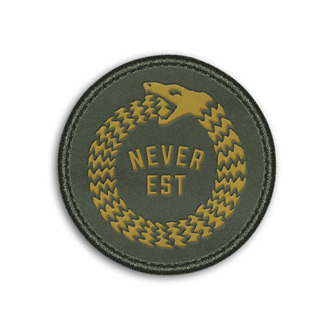 Snake Velcro Patch  // Olive