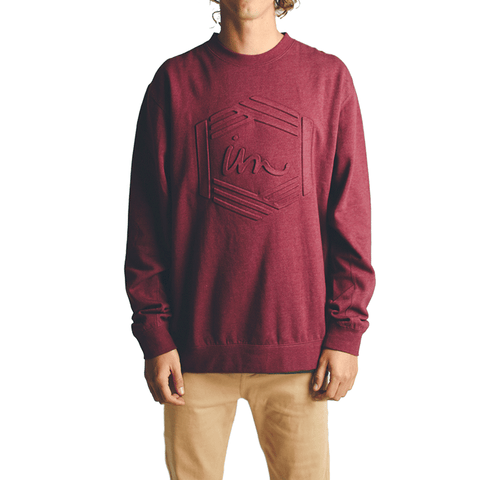Post Crew Neck // Burgundy