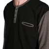 Salvage LS Henley // Black/Charcoal