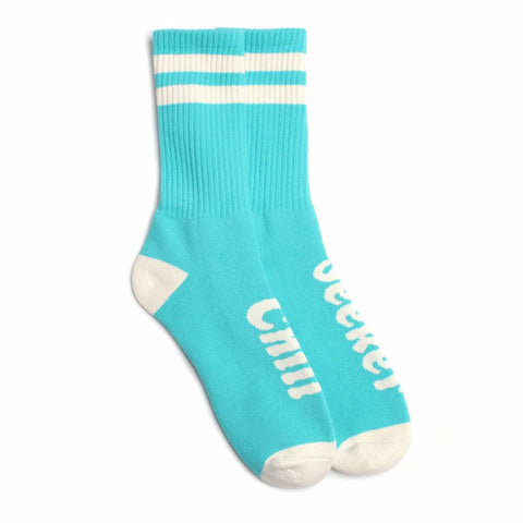 Seeker Type Socks // Aqua/Creme