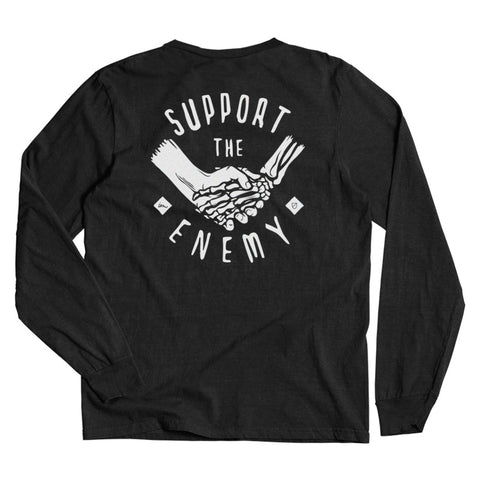 Support the Enemy LS Tee  /  Black