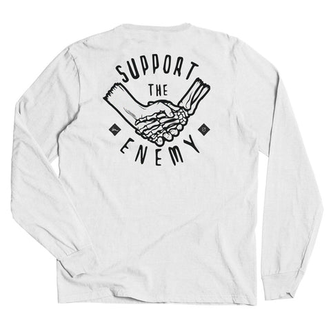 Support the Enemy LS Tee  /  White
