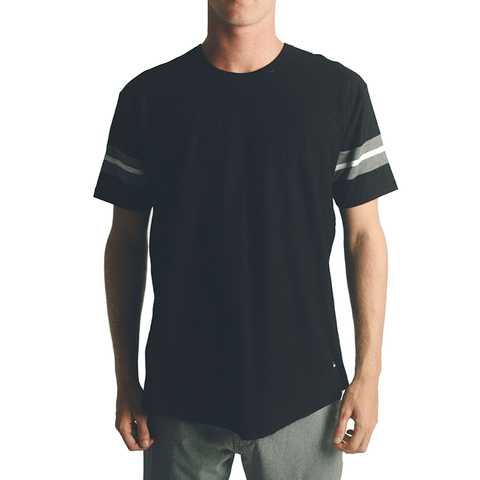 Torrey Football Tee // Black