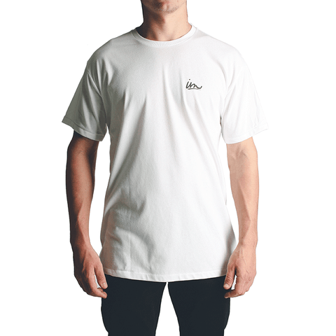 Underline Carbon Cool T-Shirt // White