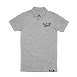 Script Polo - heather grey