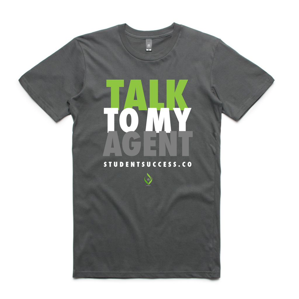 Talk To My Agent - Tee In Charcoal