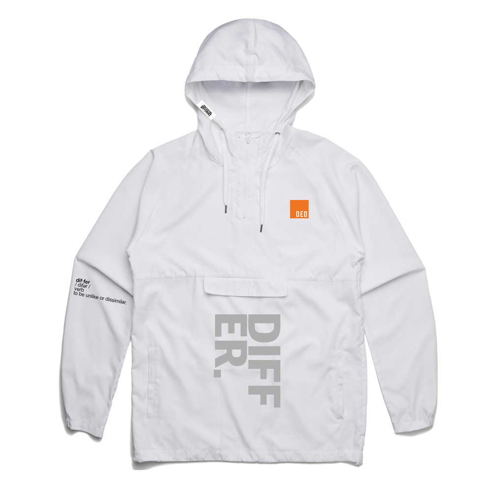 Differ. Windbreaker - white