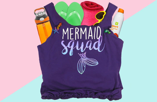 DIY Mermaid T-Shirt Beach Bag – Make an Old T-Shirt New Again